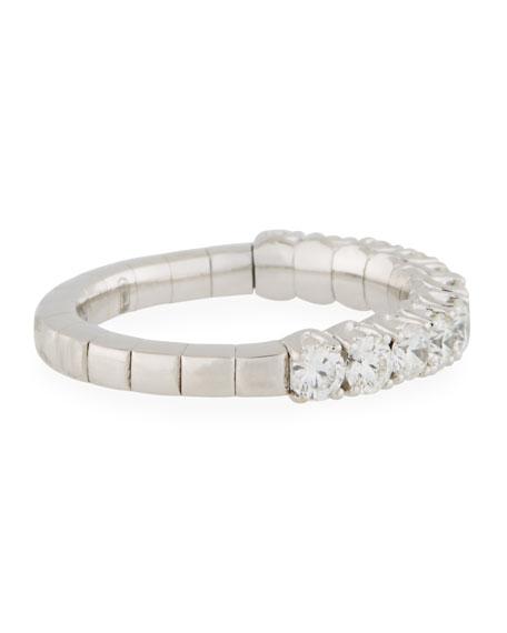 18k Expandable Round Diamond Ring, 1.15tcw