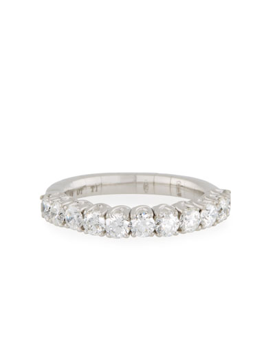 18k Expandable Round Diamond Ring, 1.15tcw