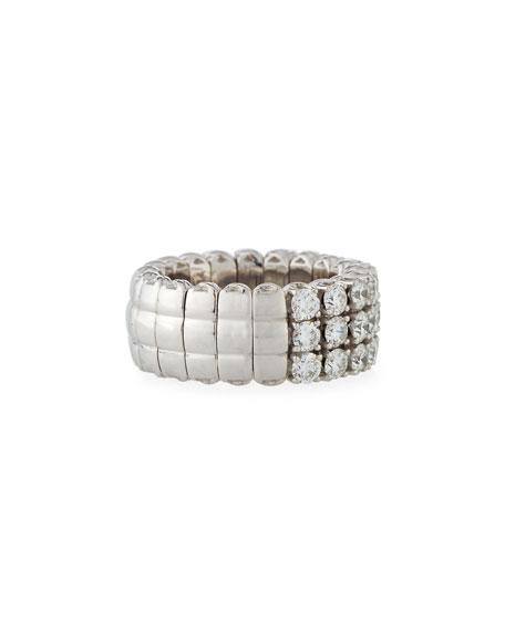 18k Expandable Round Diamond Ring, 3.01tcw