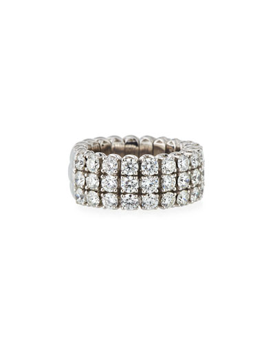 18k Expandable Round Diamond Ring, 3.01tcw