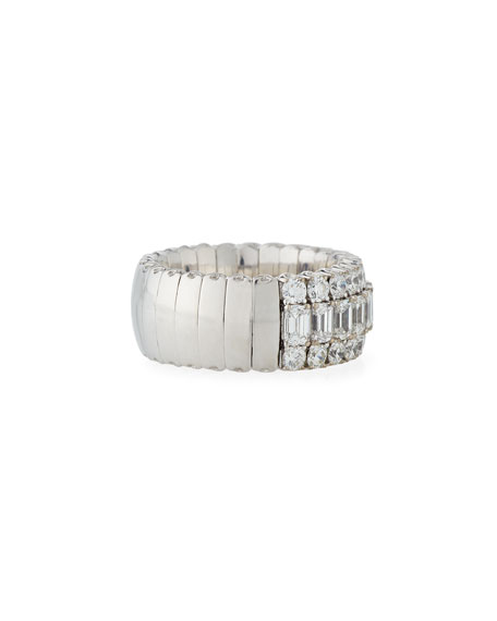 18k Expandable Mixed-Cut Diamond Ring, 3.36tcw