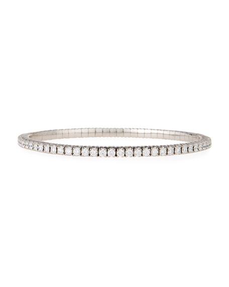 18k Expandable Round Diamond Bracelet, 3.65tcw