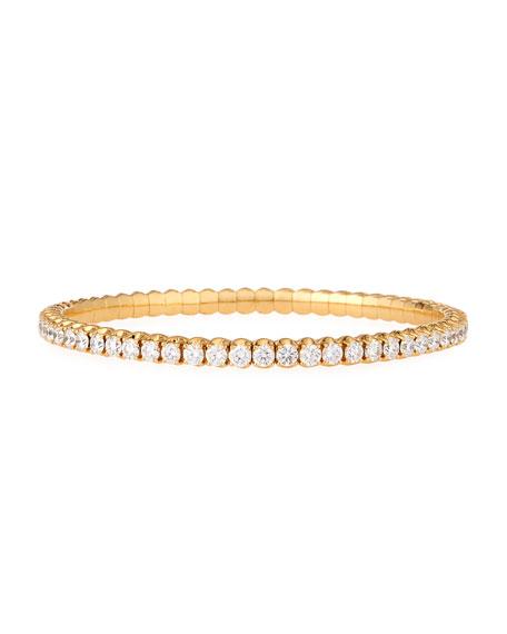 18k Expandable Round Diamond Bracelet, 5.87tcw