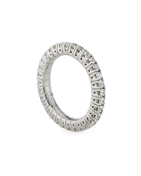 18k Expandable Round Diamond Ring, 1.05tcw