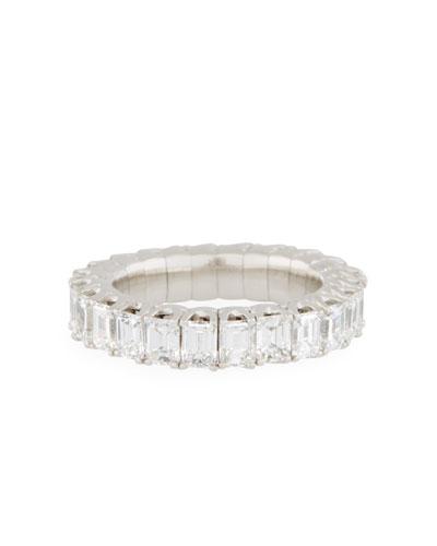 18k Expandable Emerald-Cut Diamond Ring, 4.0tcw