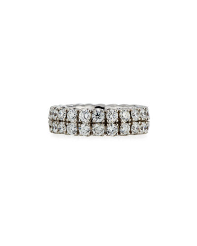 18k Expandable Round Diamond Ring, 4.59tcw