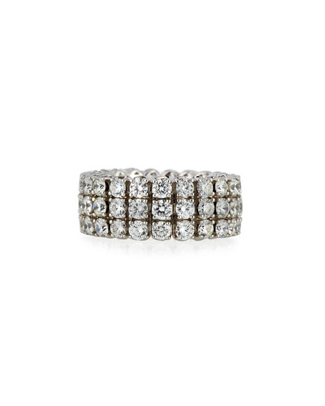 18k Expandable Round Diamond Ring, 5.57tcw