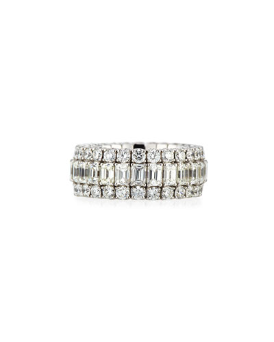 18k Expandable Mixed-Cut Diamond Ring, 7.24tcw
