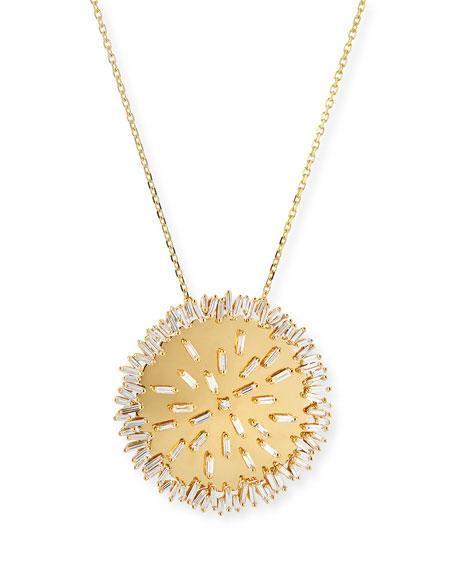 Suzanne Kalan 18 Zigzag Rainbow Sapphire & Diamond Circle Pendant Necklace pLriu