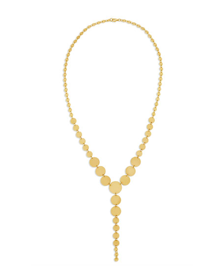 14k Multi-Disc Lariat Necklace