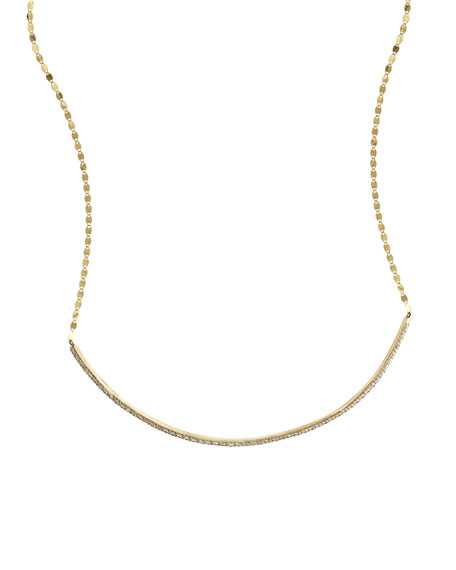 Flawless 14k Diamond Bar Choker Necklace