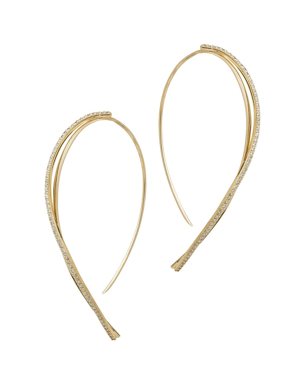 Lana Jewelry Small Flawless LA Bangle Diamond Hoop Earrings dRVVU6b9MJ