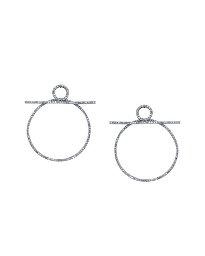 Diamond Bar Hoop Earrings