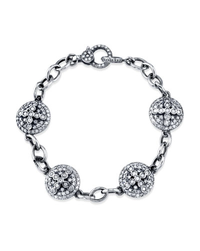 Diamond Dome Cross Eternity Bracelet