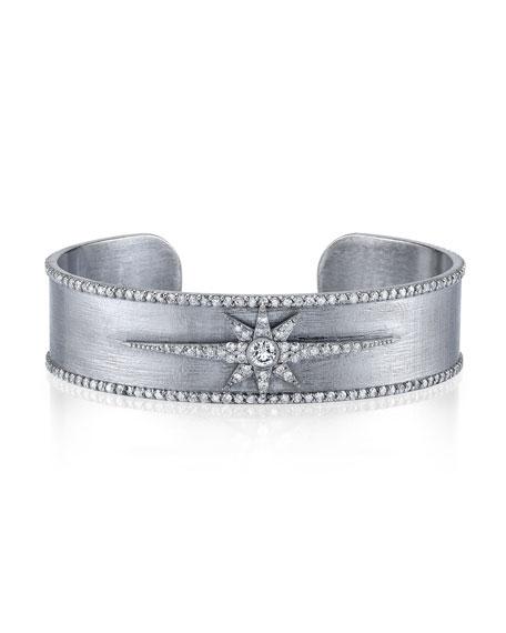 Diamond Starburst Cuff Bracelet