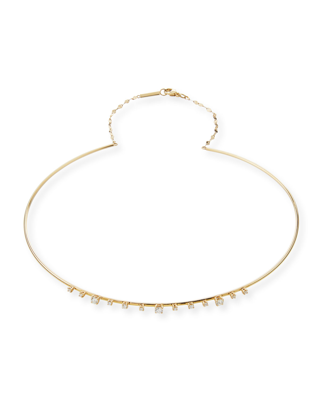 Lana Jewelry 14k Thin Wire Choker Necklace 8RtGb
