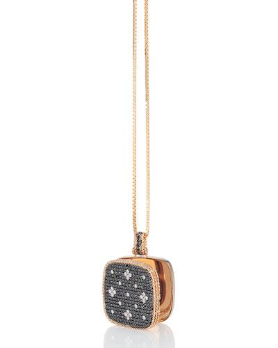 18k Rose Gold Venetian Princess Diamond Locket Necklace, 34