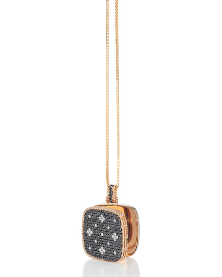 18k Rose Gold Venetian Princess Diamond Locket Necklace