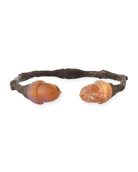 Large Twig Cuff Bracelet w/ Acorn Opals