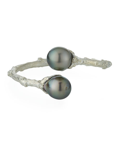 Twig Bypass Tahitian Pearl Cuff