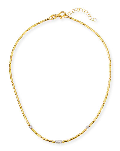 Vertigo Single Diamond Pavé Necklace