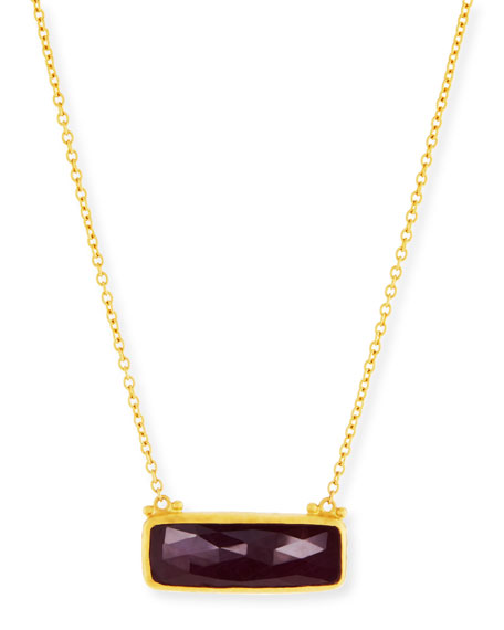 24k Elements Hue Ruby Pendant Necklace