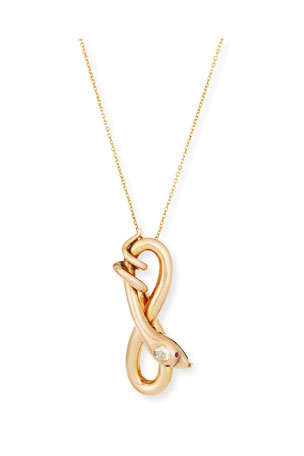 Turner & Tatler 14K Rose Gold Serpent Pendant Necklace
