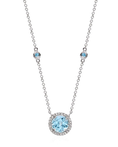 Grace Blue Topaz & Diamond Necklace