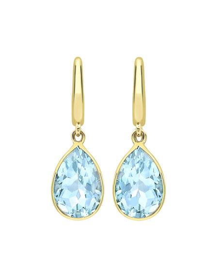 Kiki McDonough Classic 18k Blue Topaz Pear Drop