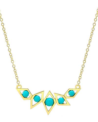 Birds of Paradise Turquoise Necklace