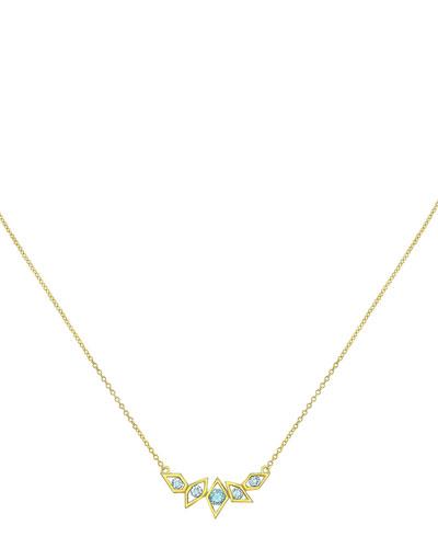 Birds of Paradise Aquamarine Necklace
