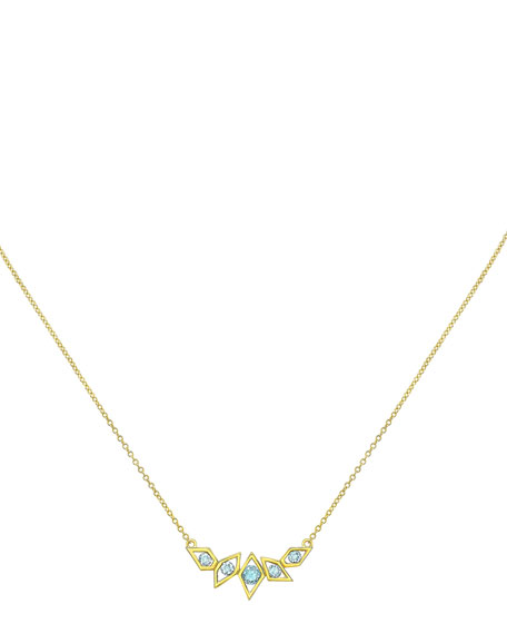 Birds of Paradise Aquamarine Necklace