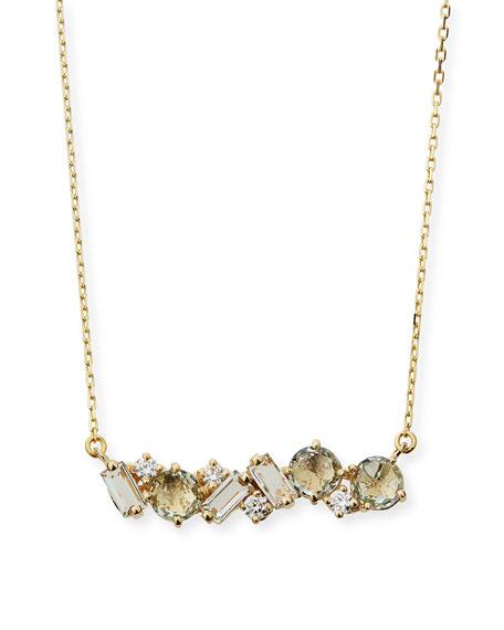 14k Mixed-Cut Amethyst Necklace