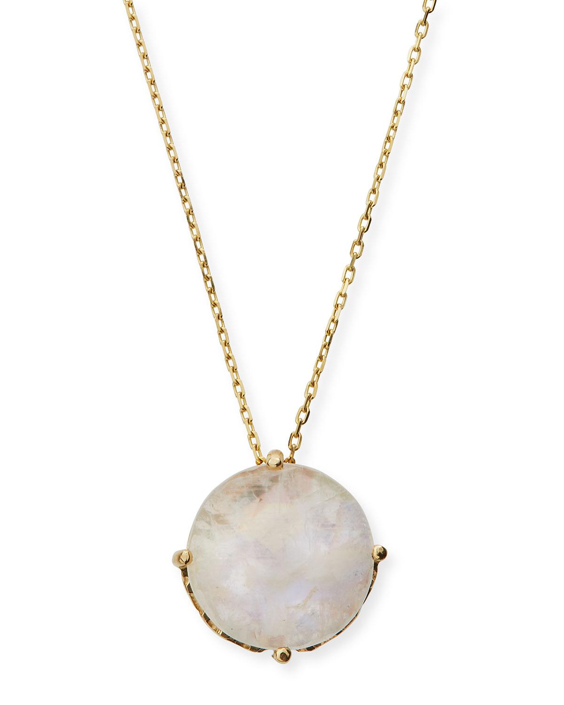 Suzanne Kalan 14k Rainbow Moonstone Round Pendant Necklace gfYuYHdRJ