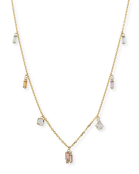 14k Mixed Stone Necklace