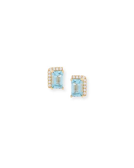 Suzanne Kalan 14k Paraiba Topaz Earrings L6kDAnumBH