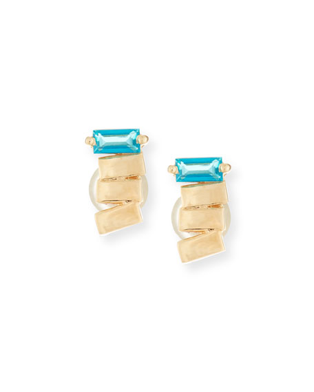 14k Paraiba Topaz Earrings