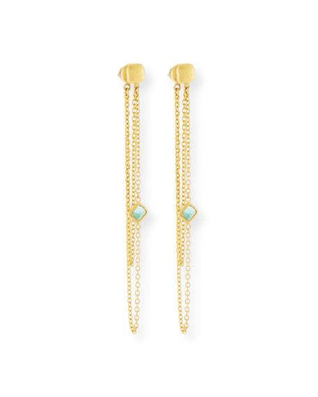 Gurhan Limited Edition 22k Elements Hue Double-Chain Earrings