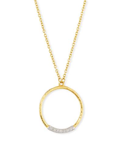 Delicate Geo Diamond Pavé Pendant Necklace