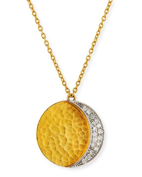 Gurhan Delicate Geo Diamond Pavé Pendant Necklace BiZpYQy