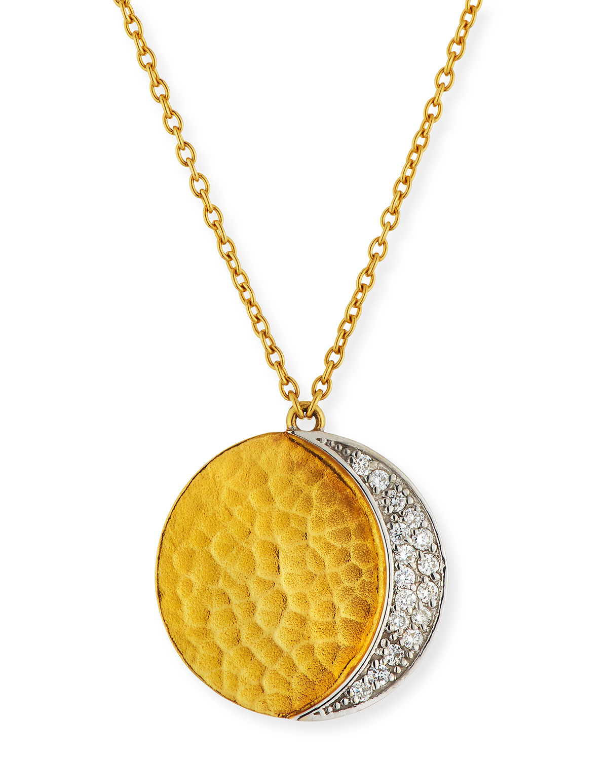 Gurhan 24k gold mango diamond pave pendant necklace neiman marcus 24k gold mango diamond pave pendant necklace aloadofball Images