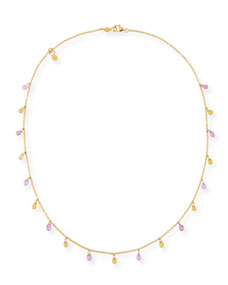 Gurhan Limited Edition Delicate Dew Necklace with Fancy Sapphire Briolettes Gao3JCyoI