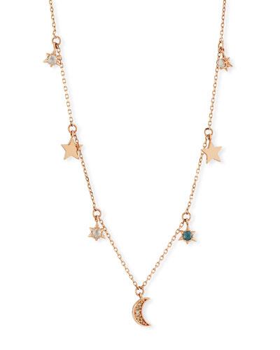 14k Celestial Diamond Charm Necklace