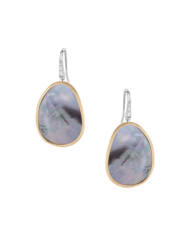 Marco Bicego Lunaria Petite Drop Earrings with Black Mother-of-Pearl & Diamonds fe1SJrjTA