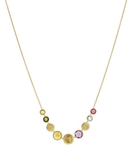 18k Mixed Gemstone Necklace