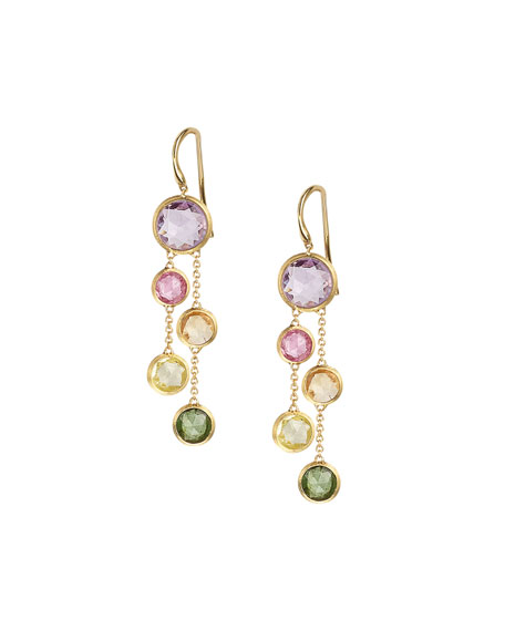 18k Jaipur Rainbow Drop Earrings