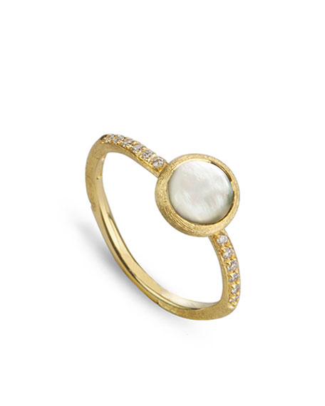 18k Jaipur Mother-of-Pearl & Diamond Ring