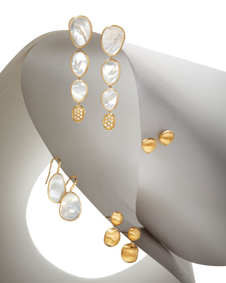 18k Mother-of-Pearl & Diamond Drop Earrings
