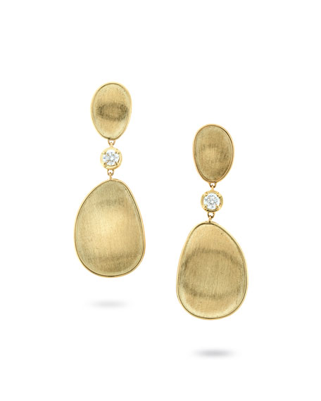 Marco Bicego 18k Lunaria Elevated Earrings w/ Diamonds