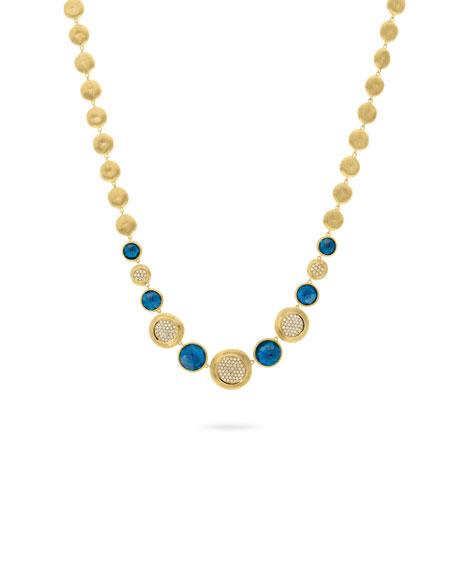 18k Jaipur Statement Collar Necklace w/ Blue Topaz & Diamonds